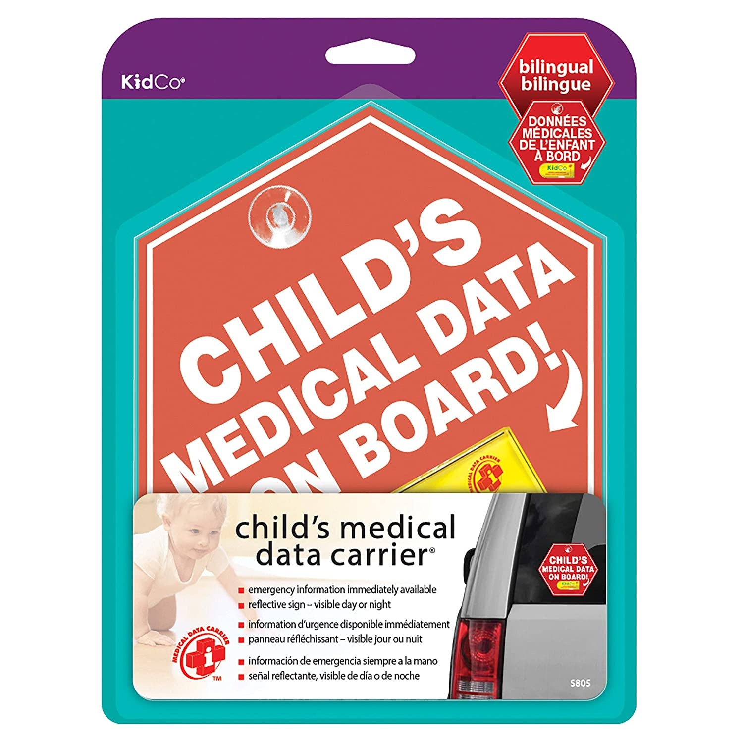 KidCo Medical Data Carrier, Red