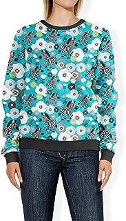 Rainbow Rules Zebra Blossoms Teal - 2XL - Womens Sweatshirt