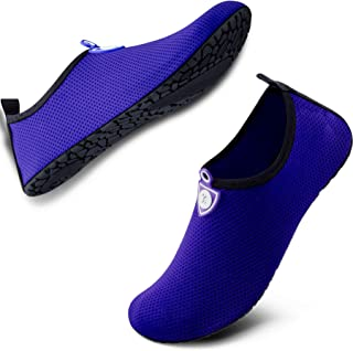 SIMARI Womens and Mens Water Shoes Quick-Dry Aqua Socks Barefoot for Outdoor Beach Swim Sports Yoga Snorkeling SWS002