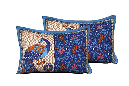 UniqChoice 100% Printed Attractive Pillow Cover( Pack of 2)