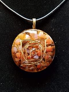 Fire Agate and Smokey Quartz Root Chakra Orgone Pendant for Grounding, Balance, and Spiritual Nourishment