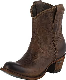 Women's Plain Jane Shortie Western Ankle Boot Charcoal Black…