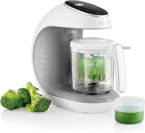 Robot de cocina Multifuncion - Multifunción 7 en 1 para Bebés - Al vapor, Procesador de Alimentos, Limpieza Automática, Esterilizador de Biberones, Recalentar, Descongela - Robot cocina bebes: Amazon.es: Bebé