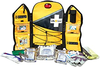 Life Gear Wings of Life Emergency Survival Kit - Disaster and Emergency Preparedness Bug Out Bag, 3 Day (72 hour) Kit Food, Water, First Aid and Tools For 1 Person