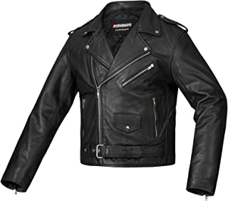 Bohmberg Premium- Chaqueta pesada de motociclista 100% cuero duradero para hombre - 3XL