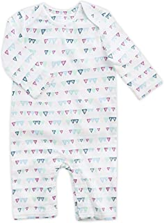 aden by aden + anais Baby Girls Coverall, Mini Pink Triangle, 3-6M …