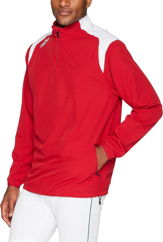 Rawlings Mens Adult Quarter Zip Long Sleeve Jacket