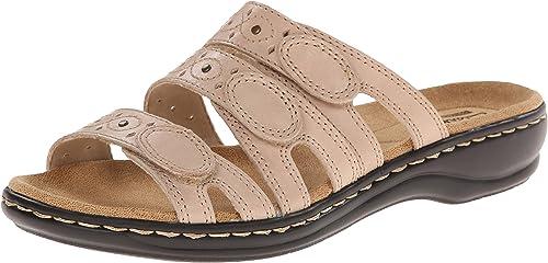 Clarks Wohommes Wohommes Leisa Cacti Slide Sandal, Nude Leather, 9 N US  livraison rapide