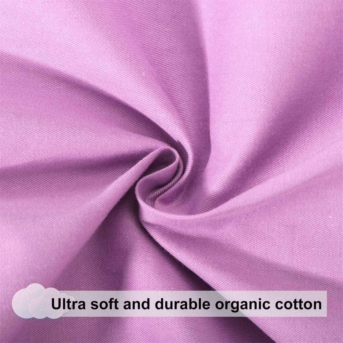 U Shape Pregnancy Body Pillow Cover Pure Cotton Replacement case for Pregnancy Pillow Purple Sunfayzz Maternity Pillow Cover 59 Inch Bed Pillow