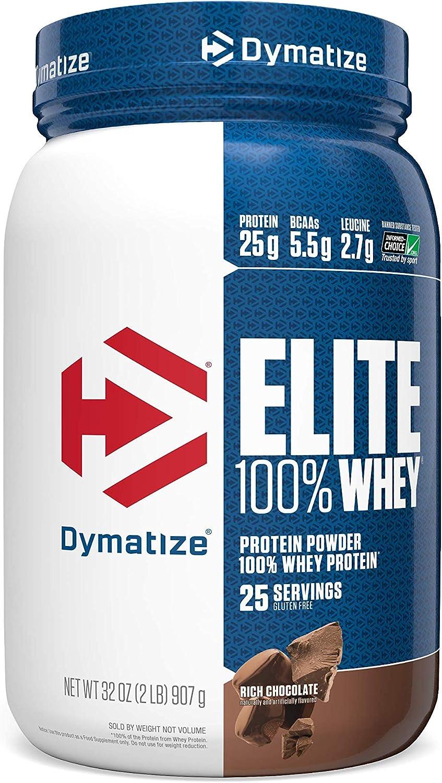 Dymatize Elite 100% Whey Protein 5.5g Indianapolis Mall Powder BCAAs 25g Miami Mall