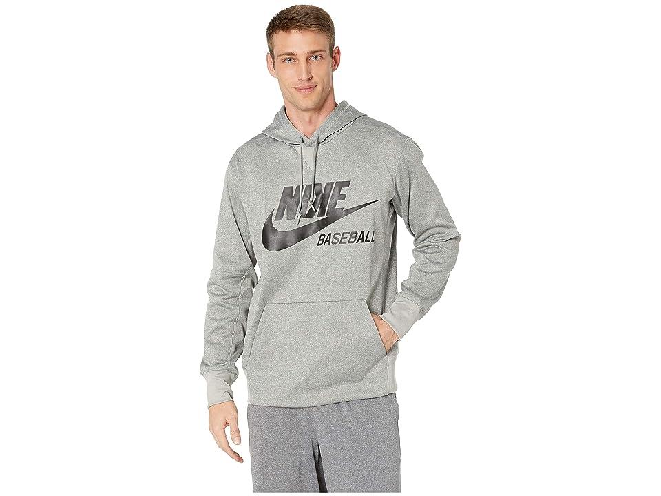 Nike Baseball Hoodie (Dark Grey Heather/Black) Men
