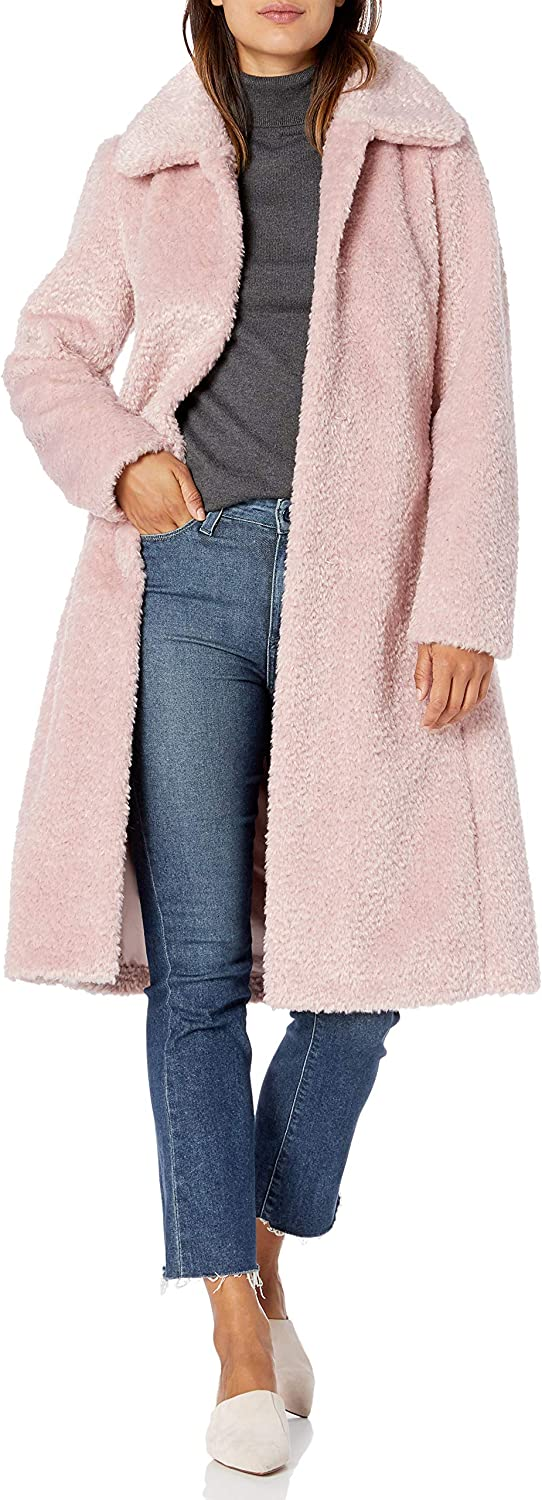 Vince Camuto Women's Chic and Warm Faux Belted Long Coat