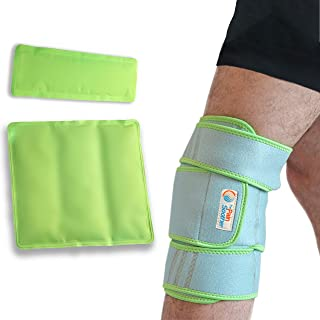 Sponsored Ad - Knee Ice Pack Wrap - Premium Ultra Soft Cold/Hot Gel 360 Degree Compression Brace - Flexible Wrap for Treat...