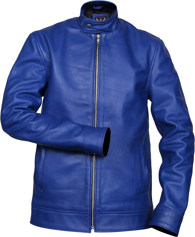 Blue Leather Motorcycle Jackets Mens Motorcycle Style Blue Designer Leather Jacket Southbeachleather