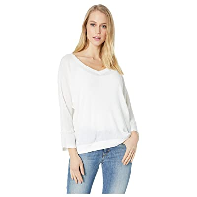 Splendid 3/4 Sleeve PJ Top (White) Women