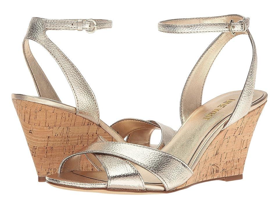 Nine West Kami Wedge Sandal (Gold Metallic) Women