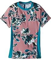 Watercolor Floral Surf Shirt (Big Kid)