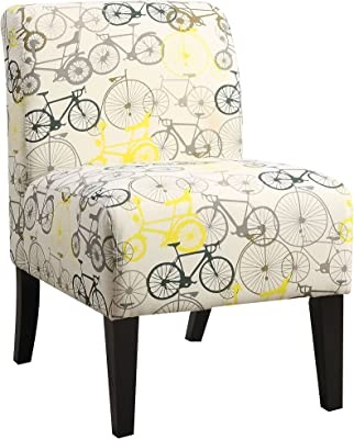 ACME Ollano Accent Chair - 59438 - Pattern Fabric