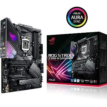 ASUS ROG Strix Z390-E Gaming LGA1151 (Intel 8e et 9e générations) ATX DDR4 DP HDMI M.2 USB 3.1 Gen2 802.11 AC carte mère Wi-Fi, Noir