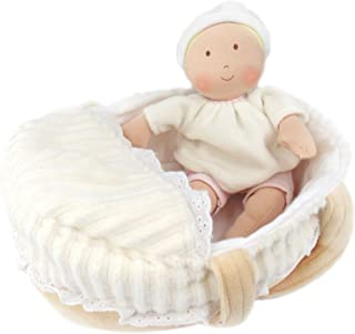Bonikka Dolls Carry Cot Baby with Bottle & Blanket Plush rag Doll