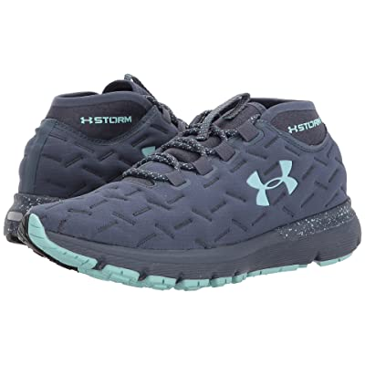 Under Armour Charged Reactor Run (Apollo Gray/Black/Blue Infinity) Women