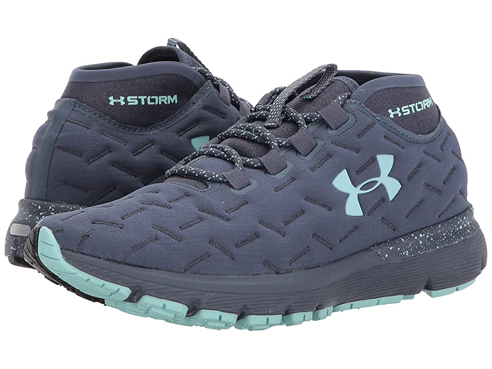 Under Armour Charged Reactor Run (Apollo Gray Black Blue Infinity) Women s Running  Shoes 7241692d11e