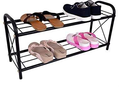 D&V ENGINEERING - Creative in innovation Metal Shoe Rack/Storage/Organizer/Stand for Home (2-Tier)