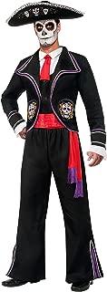 Men's Day Of Dead Mariachi Macabre Costume