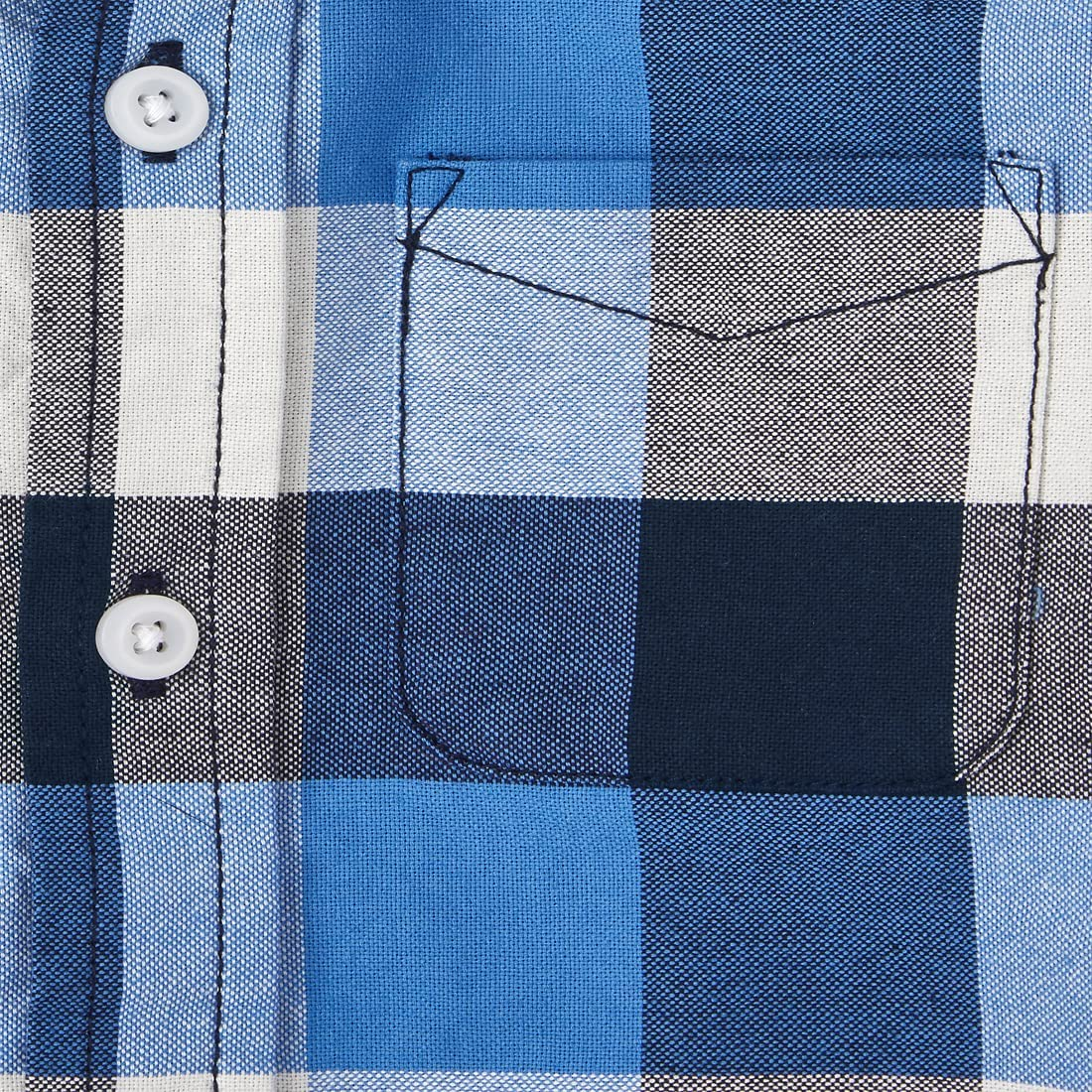 The Children's Place Baby Toddler Boy Long Roll Up Sleeves Plaid Oxford Button Down Shirt