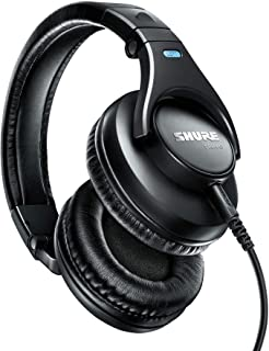 Shure SRH440, Professional Studio Headphones, Wired Headset, Comfortable, Over Ear, Calibrated for Audio Devices, DJ Mixer...