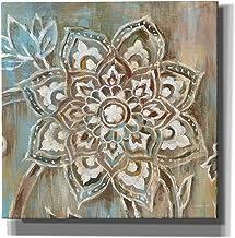 """لوحة فنية جدارية من القماش مطبوع عليها """"Henna II Blue"""" من تصميم Danhui Nai من Danhui Nai مقاس 66 سم × 66 سم، بني"""