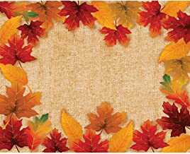 """Creative Converting Fall Leaves Placemats, 12"""" x 15"""", Multi-color"""