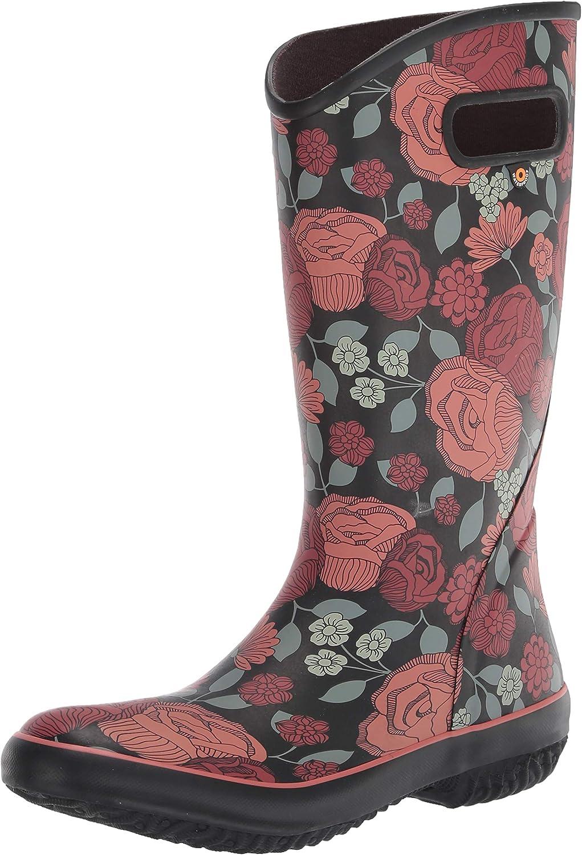 BOGS Women's Rainboot Le Jardin Print Waterproof Rain Boot