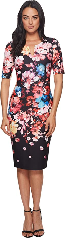 Adrianna Papell Spring In Bloom Printed Sheath