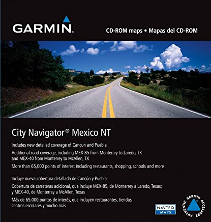Garmin City Navigator Mexico Map CD-ROM (Windows)