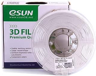 eSUN 1.75mm White ABS 3D Printer filament 1kg Spool (2.2lbs), White