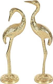 Deco 79 68977 Gold Aluminum Flamingo Sculptures (Set of 2), 15