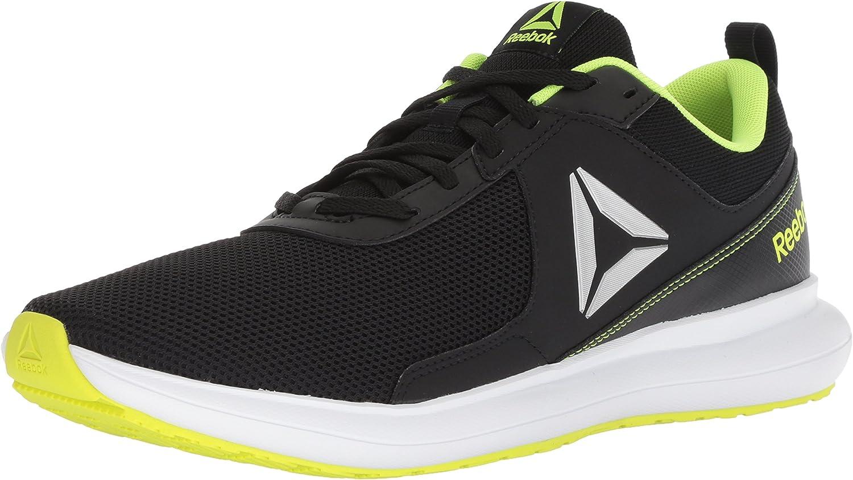 Reebok Men's Driftium Running shoes, Black ash Grey Solar yllw, 11 M US