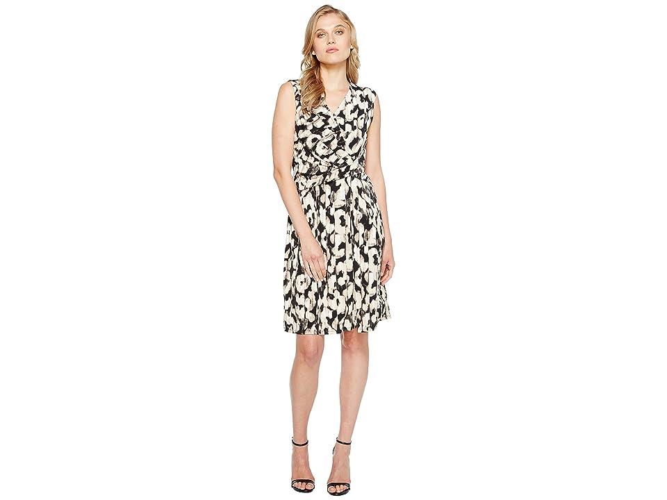 Ellen Tracy Twist Front Dress (Serengeti/Beach) Women