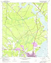 YellowMaps Georgetown North SC topo map, 1:24000 Scale, 7.5 X 7.5 Minute, Historical, 1943, Updated 1976, 26.9 x 22 in