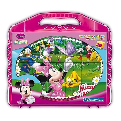 Clementoni - 42416 - Puzzle Cubi - Minnie Club House - 24 Cubi - Disney