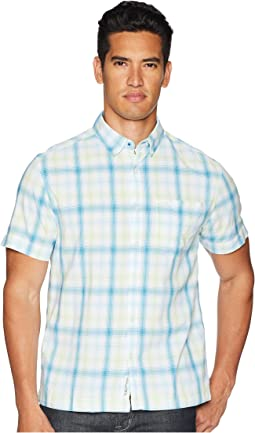 Short Sleeve Straight Hem Ombre