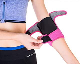 GUIK Elbow Pads with Compression Sleeve -Thick Spogne Elbow Brace Support for Skateboard Volleyball Dance for Youth Boys Girls&Kids