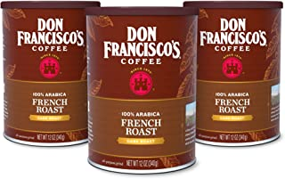 Don Francisco's French Dark Roast Ground Coffee, 100% Arabica (3 x 12 Ounce Cans)