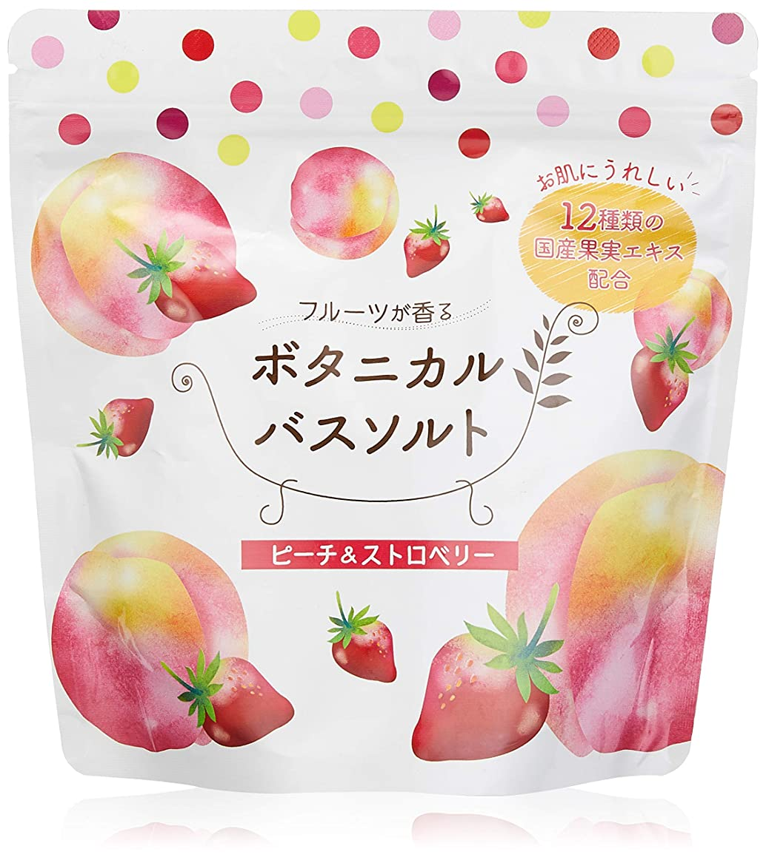 クローゼット純粋な安定しました松田医薬品 フルーツが香るボタニカルバスソルト ピーチ&ストロベリー 450g