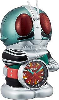 仮面ライダー 目覚まし時計 キャラクター アナログ おもしろ 音声 光 アラーム 緑 リズム時計