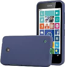 Cadorabo Case Works with Nokia Lumia 630 TPU Silicone Cover FROST DARK BLUE DE-109074