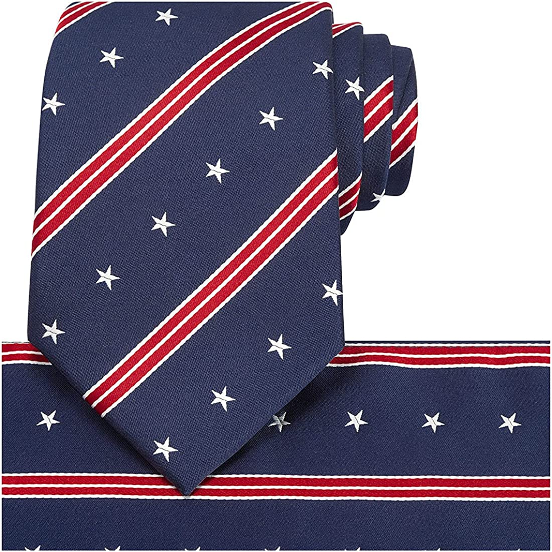KissTies 100% Silk Tie US Flag Patriotic Magnetic + Animer and price revision Directly managed store Gift Necktie