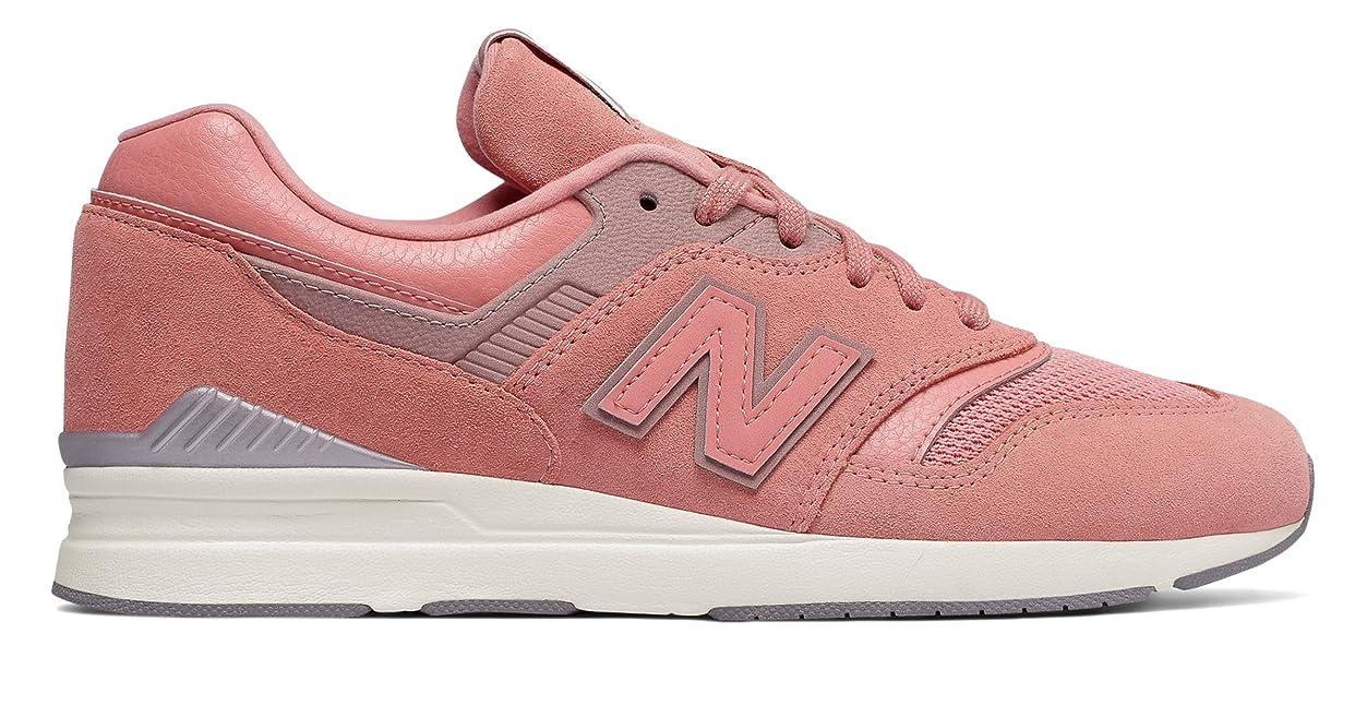 ほとんどの場合想像力苛性(ニューバランス) New Balance 靴?シューズ レディースライフスタイル Leather 697 Pink ピンク US 7 (24cm)