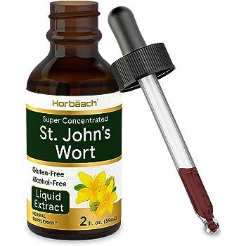St Johns Wort Tincture | 2 Oz | Alcohol Free | Vegeterian, Non-GMO, Gluten Free Liquid Extract | by Horbaach